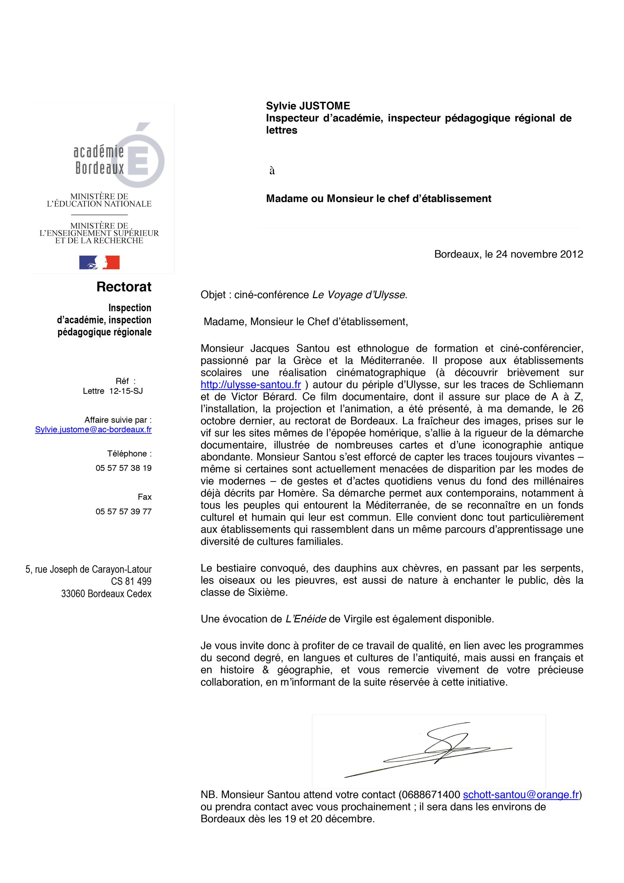 Lettre De Recommandation Estelle Libourel